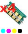Picture of Bundled Set of 4 Compatible Toner Reset Chips - suits Lanier SP C410DN